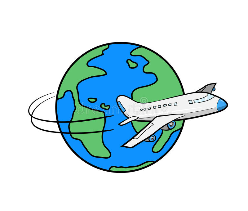 在旅行世界范围内 库存例证