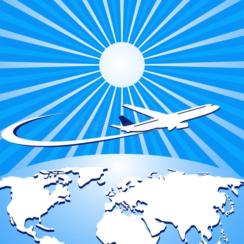 在旅行世界范围内 皇族释放例证