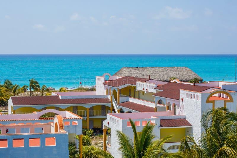 在旅馆,缓慢地Cayo的看法,古巴 免版税库存照片