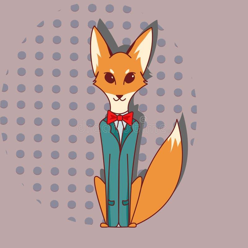 在无尾礼服的Fox 免版税库存图片