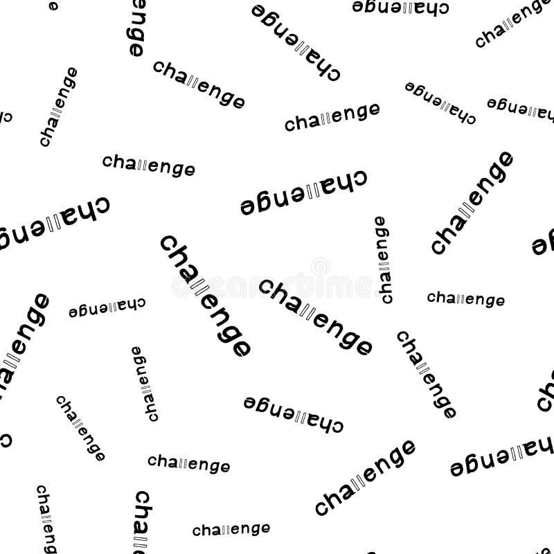 在无缝的样式上写字的挑战 向量例证