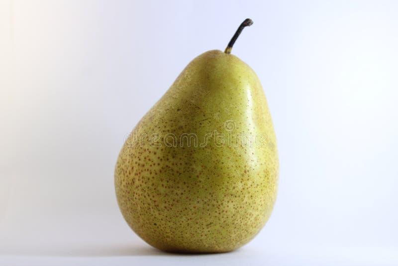 在无缝的白色背景的梨果子 库存照片