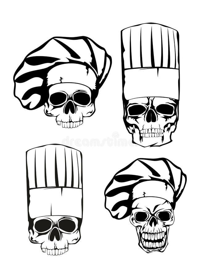 在无边女帽集的头骨 库存例证