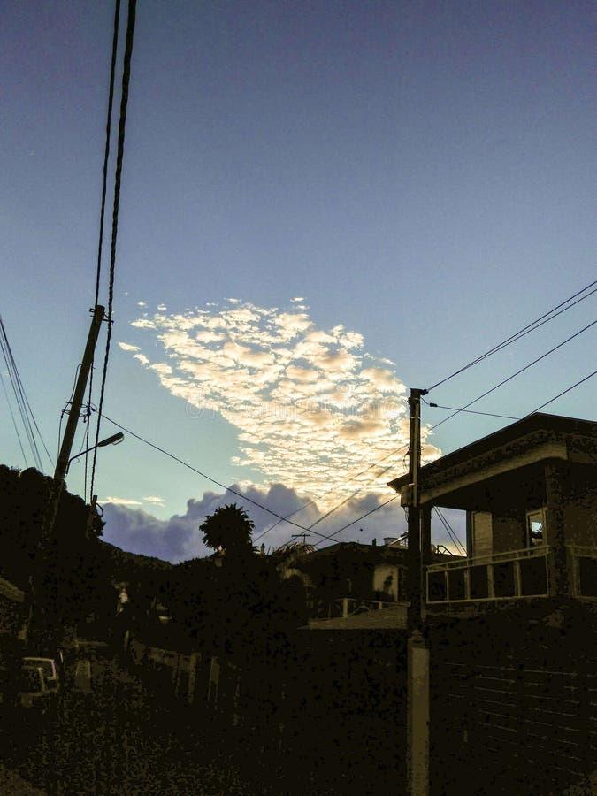 在日出期间的云彩 免版税图库摄影