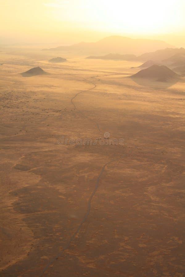 在日出的沙漠纳米比亚 库存照片