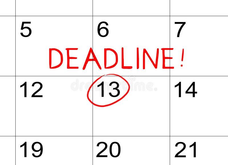 在日历的最后期限 免版税库存照片