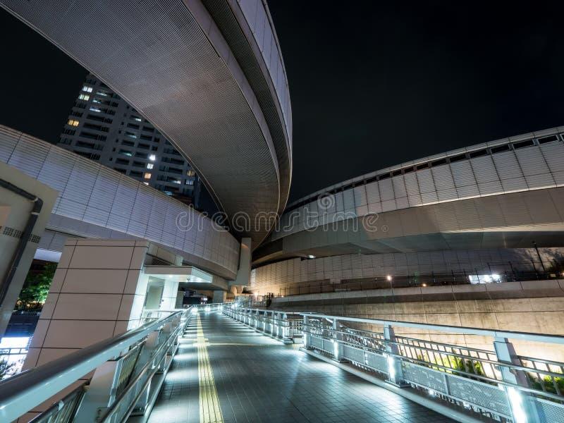 在日本夜视图的连接点 库存图片