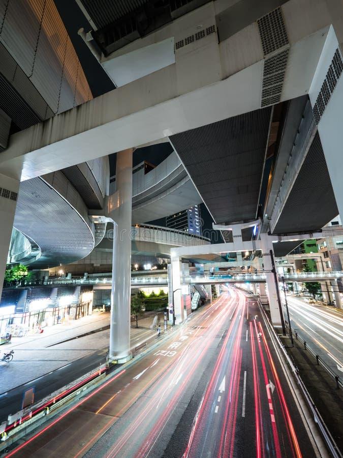 在日本夜视图的连接点 免版税库存图片