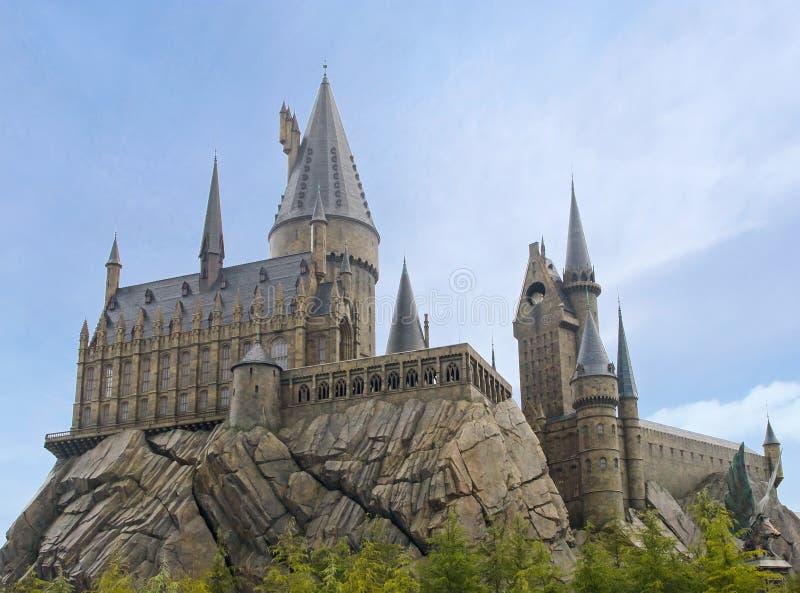 在日本环球影城的Hogswart城堡,大阪 免版税库存照片