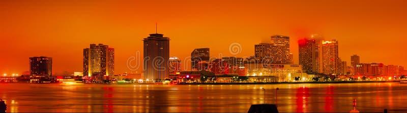 在日落之后的新奥尔良 库存照片