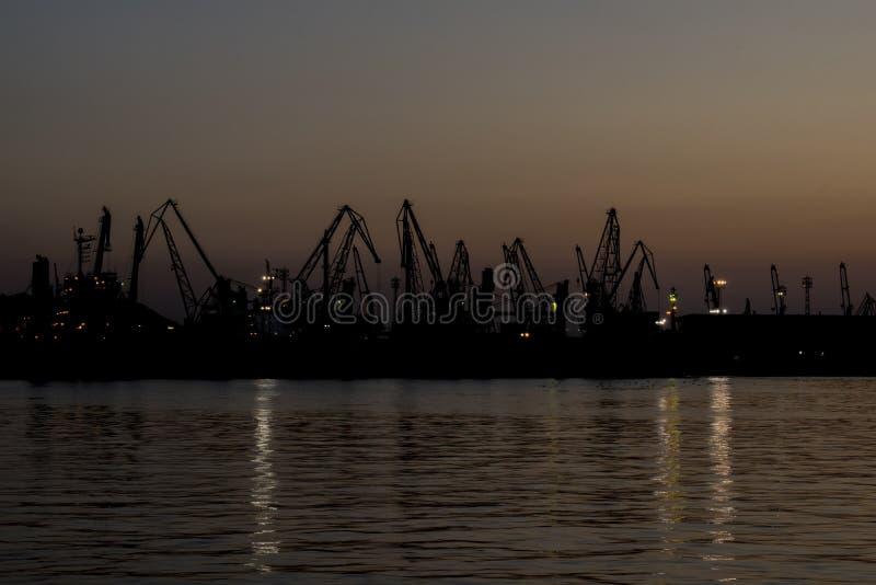 在日落以后的Minutеs在海驻地 免版税库存照片