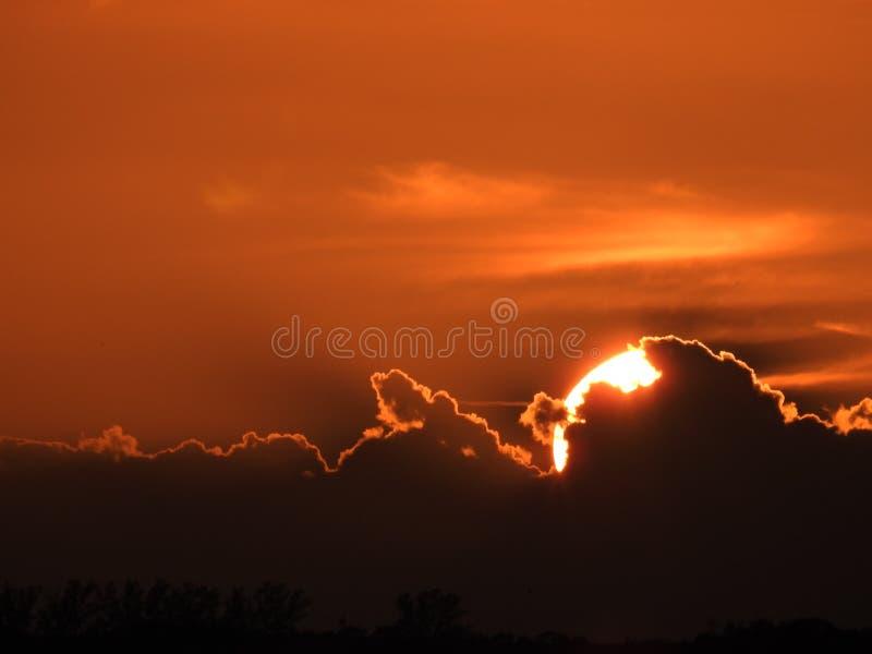 在日落以后被绘的天空 免版税库存照片