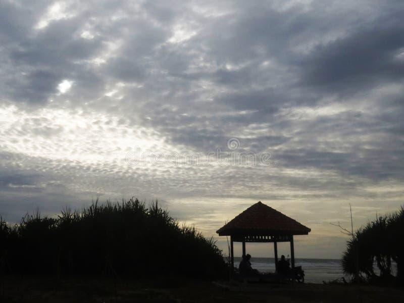 在日落前享受您的片刻 库存照片