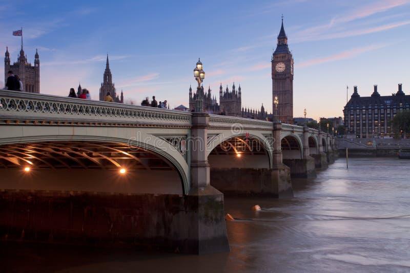 在日落前的伦敦 免版税库存图片