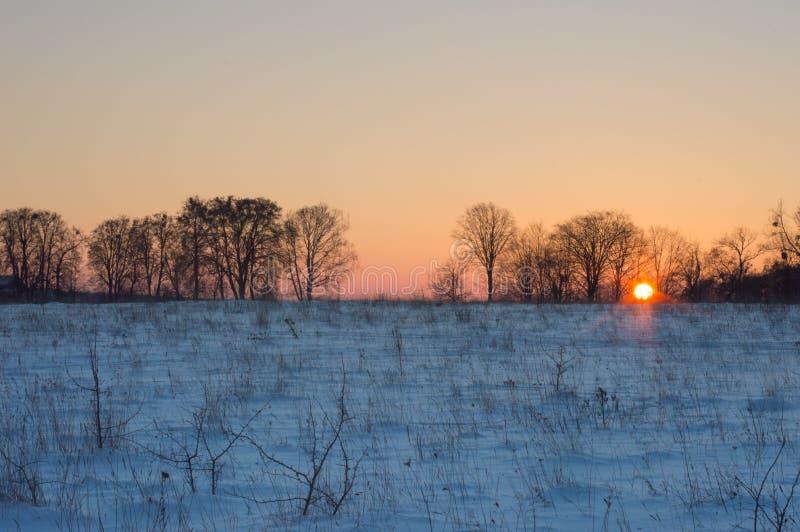 在日落前的片刻 免版税库存照片