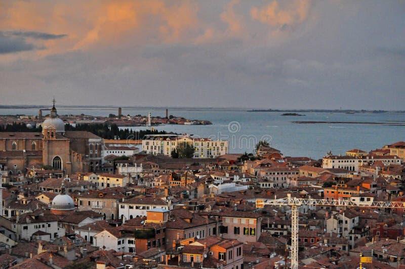 在日落威尼斯 免版税图库摄影