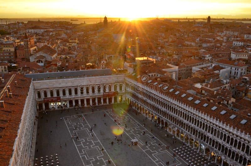 在日落威尼斯 库存图片