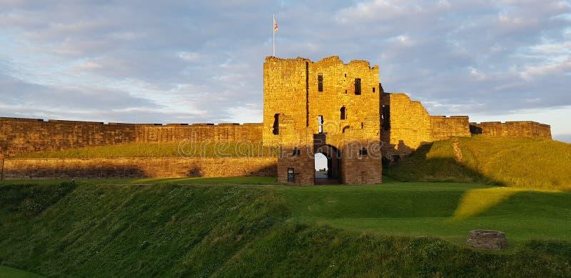 在日落的城堡 库存图片