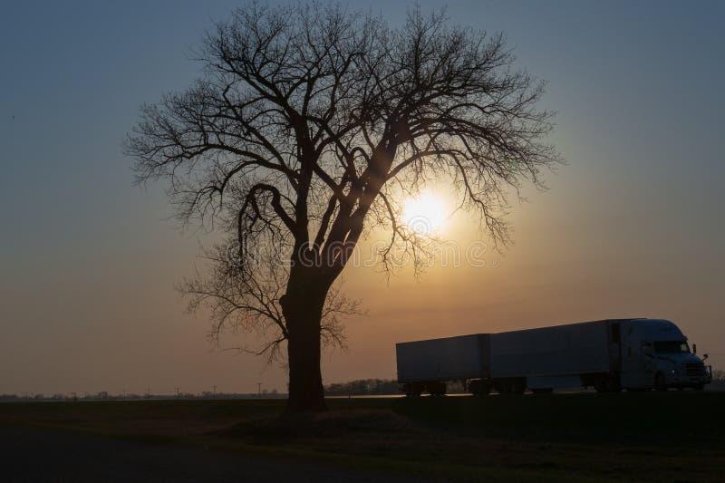 在日落的持久 库存照片