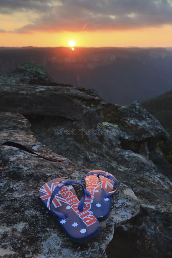 在日落的澳大利亚皮带 库存照片