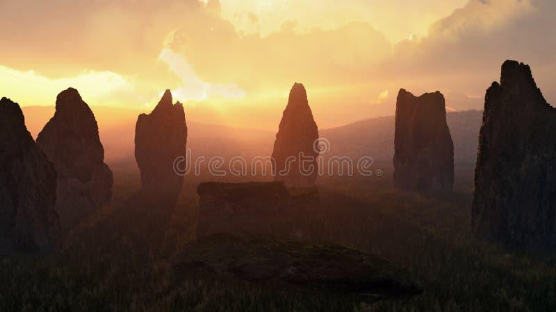 在日落的石圈子