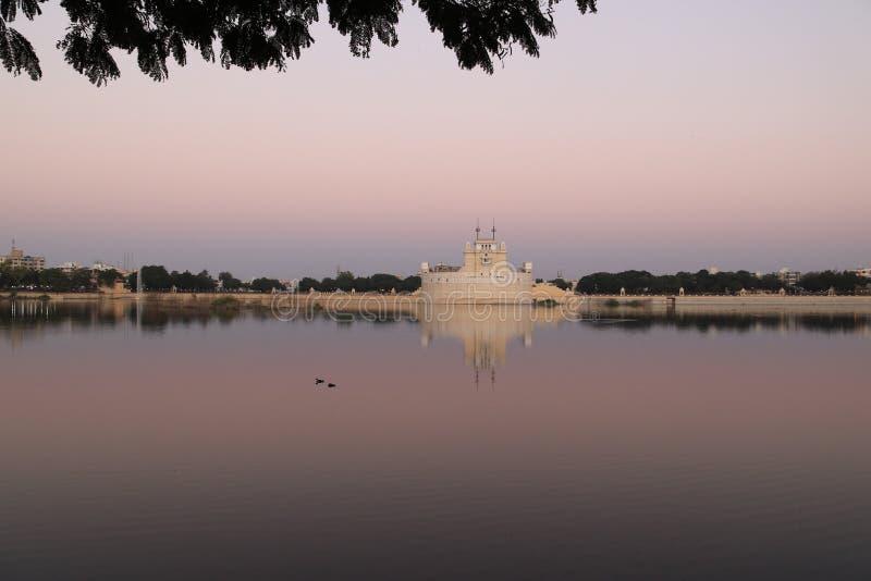 在日落的Lakhota堡垒 库存图片