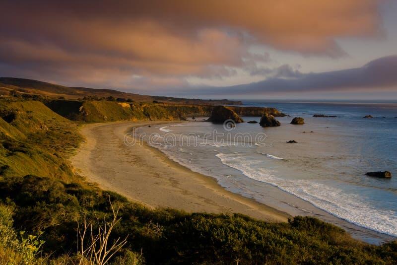 在日落sur的大加利福尼亚 库存图片