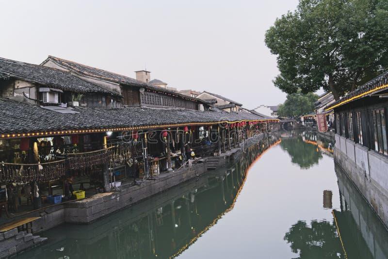 在旧历新年前的安昌古镇 免版税库存照片