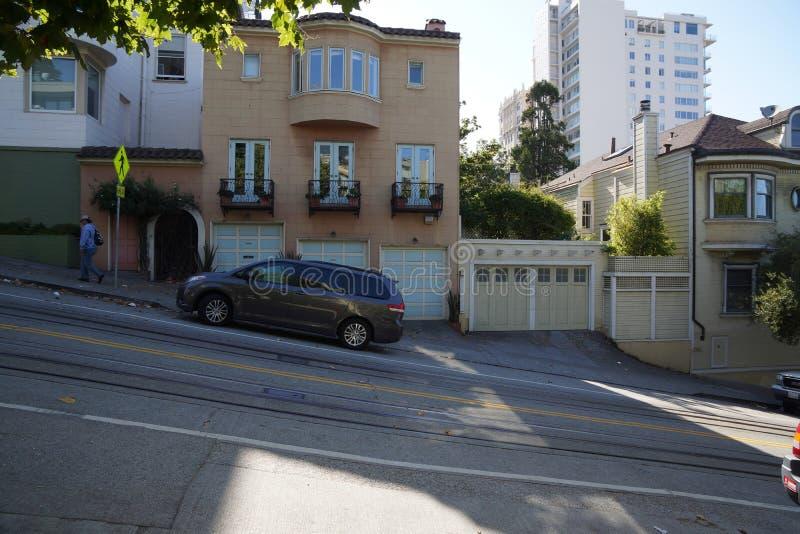 在旧金山经营的步小山 免版税库存图片