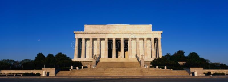 在早晨光的林肯纪念品 库存图片