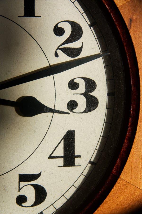 在时钟的数字 免版税库存图片