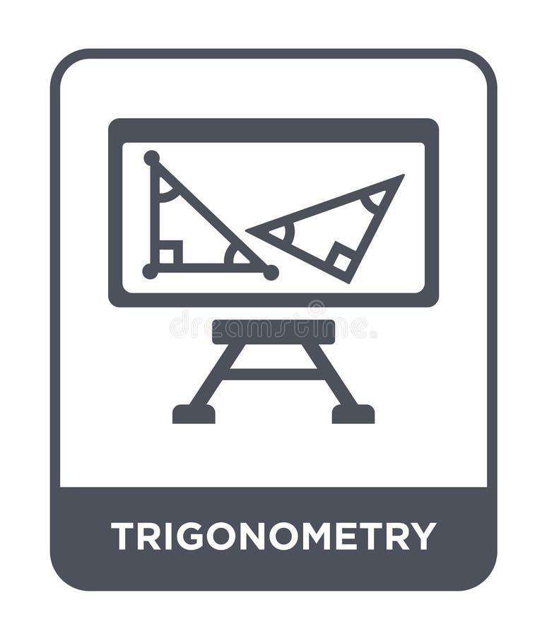 在时髦设计样式的三角学象 在白色背景隔绝的三角学象 三角学简单传染媒介的象和 库存例证