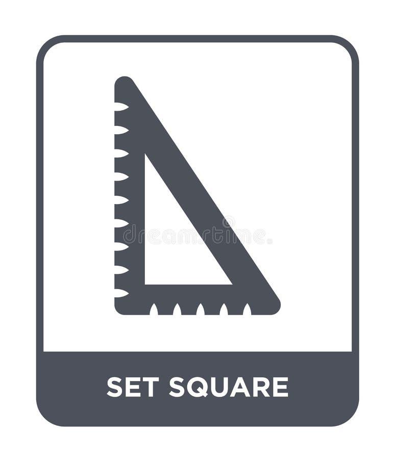 在时髦设计样式的三角板象 三角板象被隔绝在白色背景 三角板现代传染媒介的象简单和 向量例证