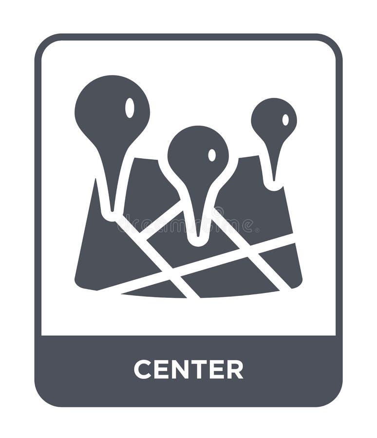 在时髦设计样式的中心象 在白色背景隔绝的中心象 中心传染媒介象简单和现代平的标志为 库存例证