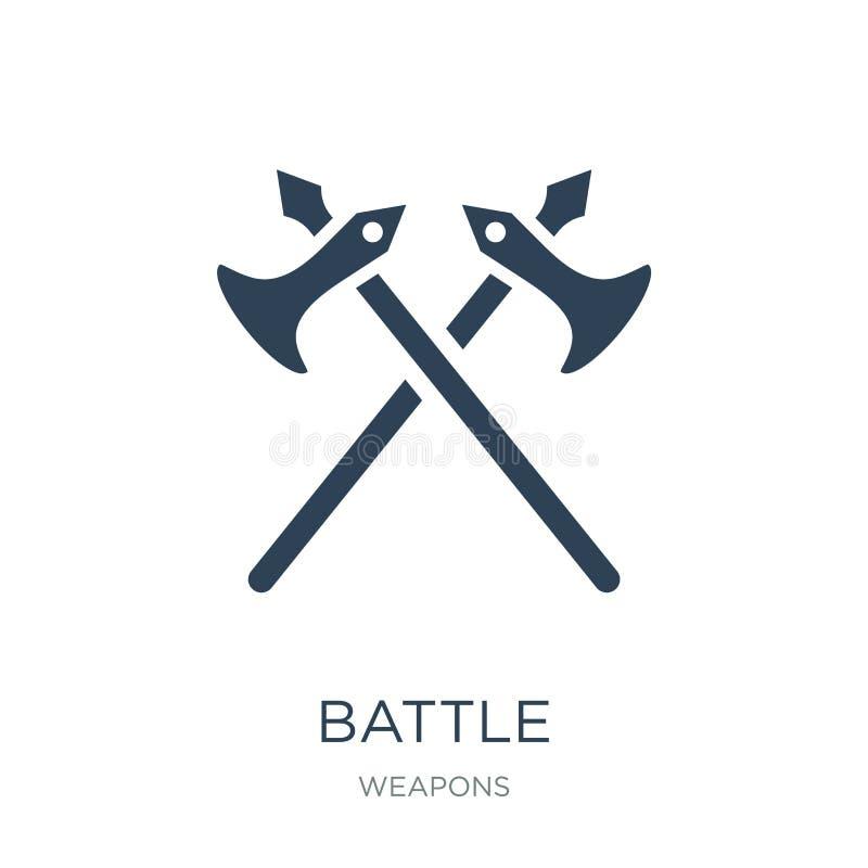 在时髦设计样式的争斗象 在白色背景隔绝的争斗象 争斗传染媒介象简单和现代平的标志为 库存例证