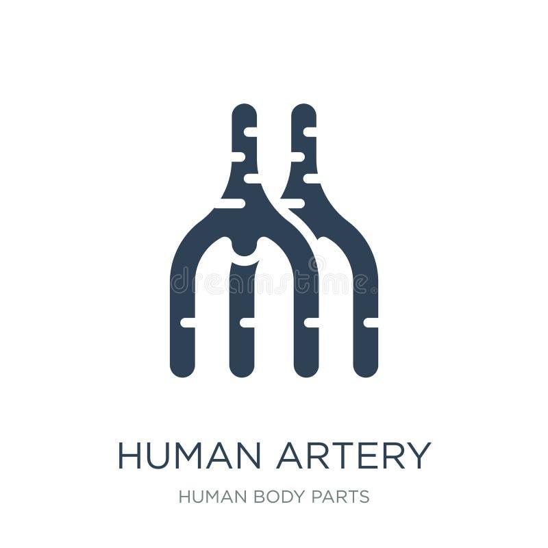 在时髦设计样式的人的动脉象 在白色背景隔绝的人的动脉象 简单人的动脉传染媒介的象和 库存例证