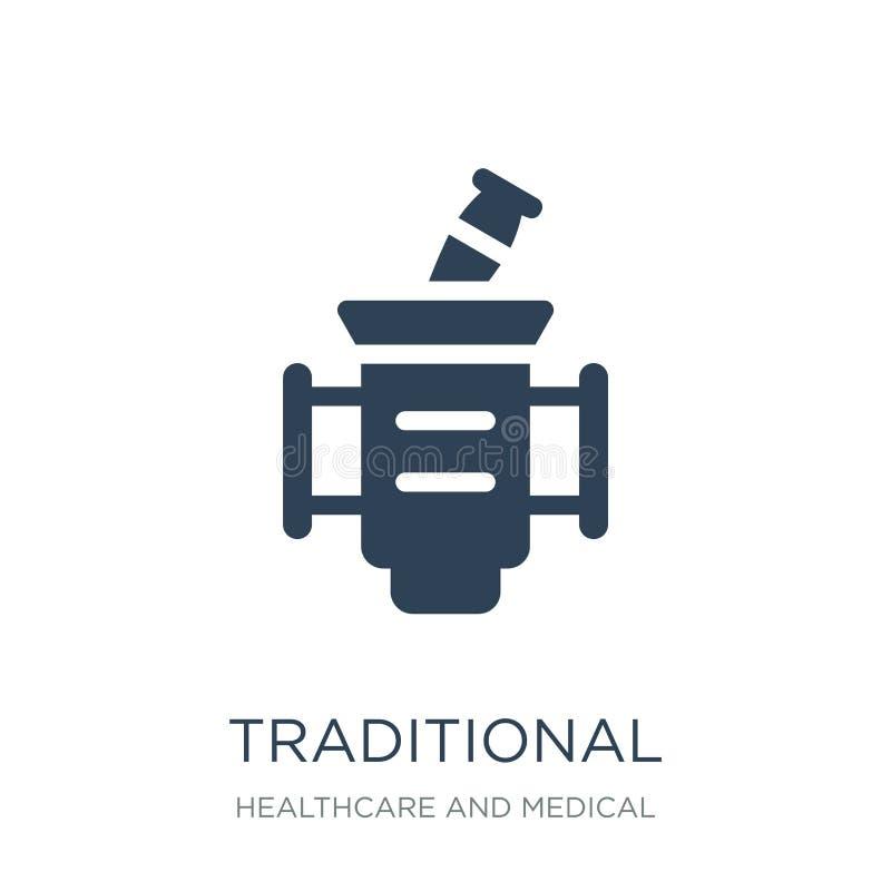 在时髦设计样式的传统医学象 在白色背景隔绝的传统医学象 传统的医学 皇族释放例证