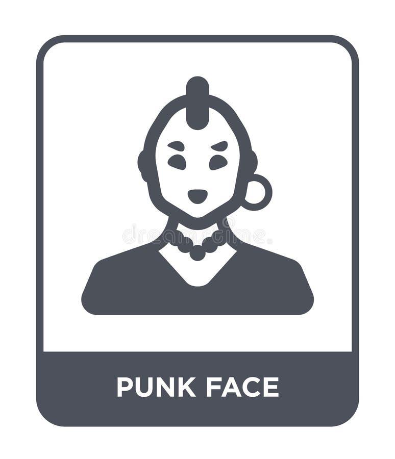 在时髦设计样式的低劣的面孔象 在白色背景隔绝的低劣的面孔象 低劣的面孔传染媒介象简单和现代舱内甲板 向量例证