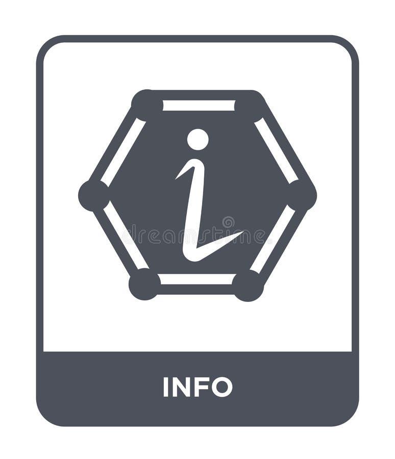 在时髦设计样式的信息象 在白色背景隔绝的信息象 网的信息向量象简单和现代平的标志 库存例证