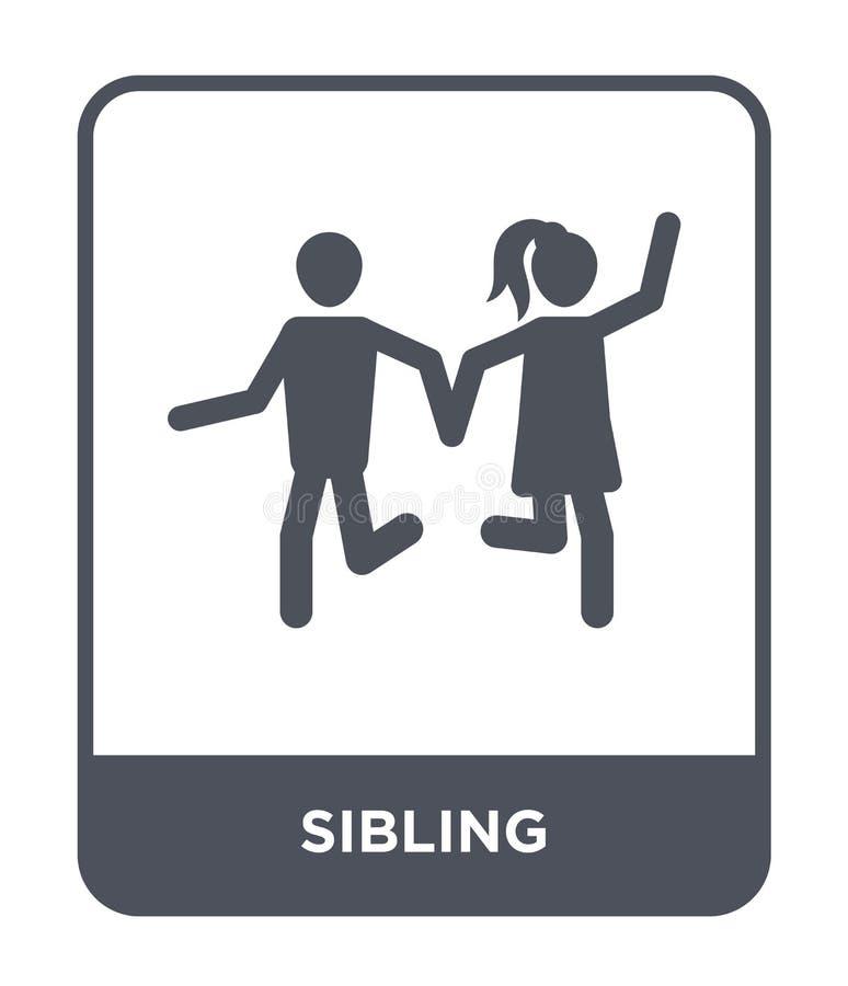 在时髦设计样式的兄弟姐妹象 在白色背景隔绝的兄弟姐妹象 兄弟姐妹传染媒介象简单和现代平的标志 向量例证
