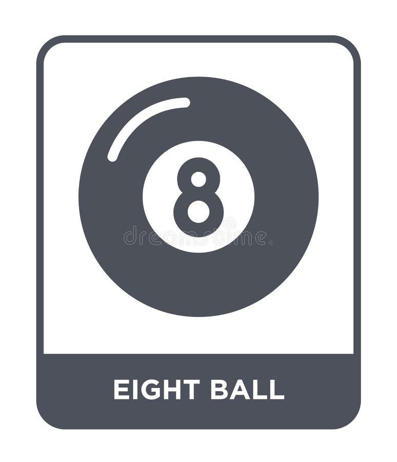 在时髦设计样式的八个球象 在白色背景隔绝的八个球象 八个球现代传染媒介的象简单和 向量例证