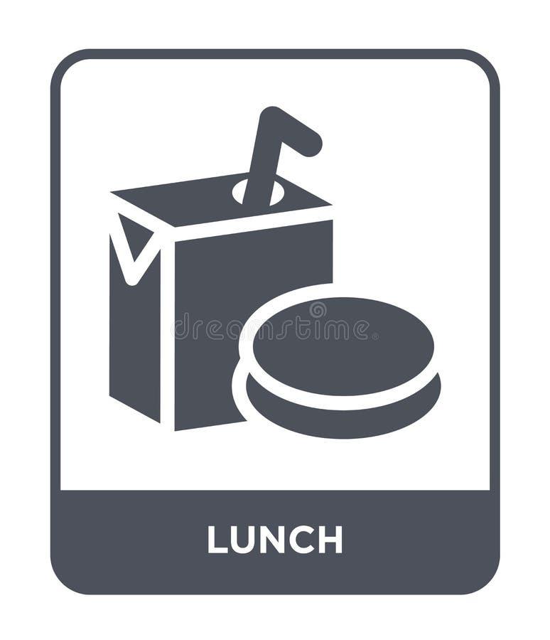 在时髦设计样式的午餐象 在白色背景隔绝的午餐象 午餐传染媒介象简单和现代平的标志为 向量例证