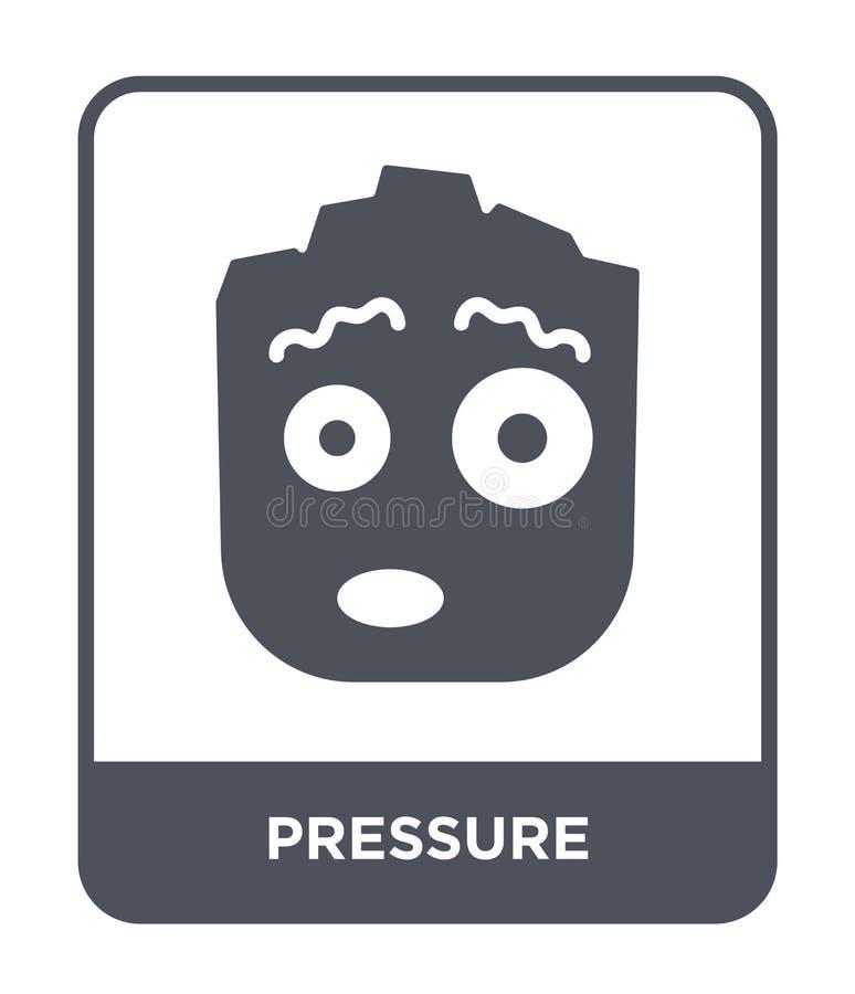 在时髦设计样式的压力象 在白色背景隔绝的压力象 压力传染媒介象简单和现代舱内甲板 皇族释放例证