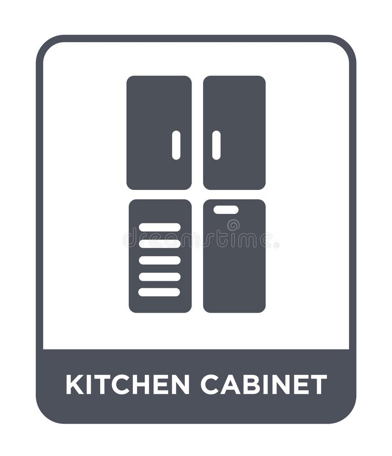 在时髦设计样式的厨柜象 在白色背景隔绝的厨柜象 厨柜简单传染媒介的象 皇族释放例证