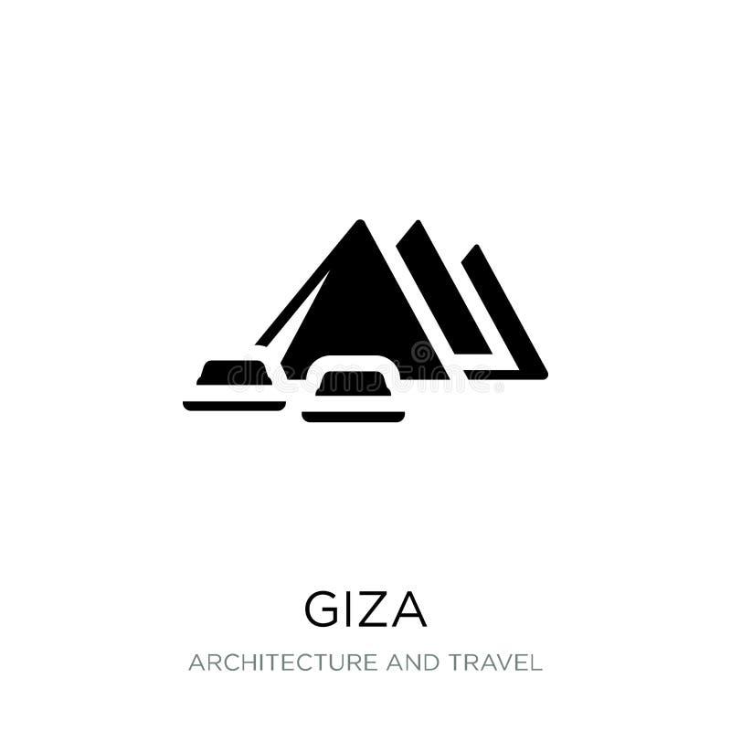 在时髦设计样式的吉萨棉象 在白色背景隔绝的吉萨棉象 网的吉萨棉传染媒介象简单和现代平的标志 向量例证
