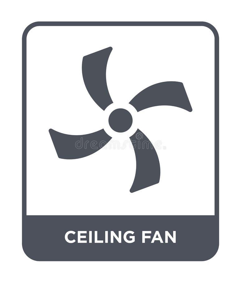 在时髦设计样式的吊扇象 在白色背景隔绝的吊扇象 吊扇现代传染媒介的象简单和 向量例证
