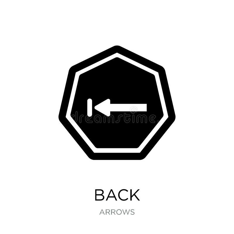 在时髦设计样式的后面象 在白色背景隔绝的后面象 后面网的传染媒介象简单和现代平的标志 库存例证