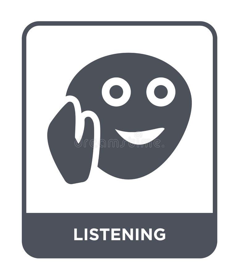 在时髦设计样式的听的象 在白色背景隔绝的听的象 听的传染媒介象简单和现代舱内甲板 皇族释放例证