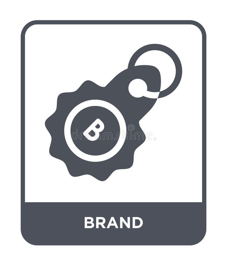 在时髦设计样式的品牌象 在白色背景隔绝的品牌象 品牌传染媒介象简单和现代平的标志为 库存例证