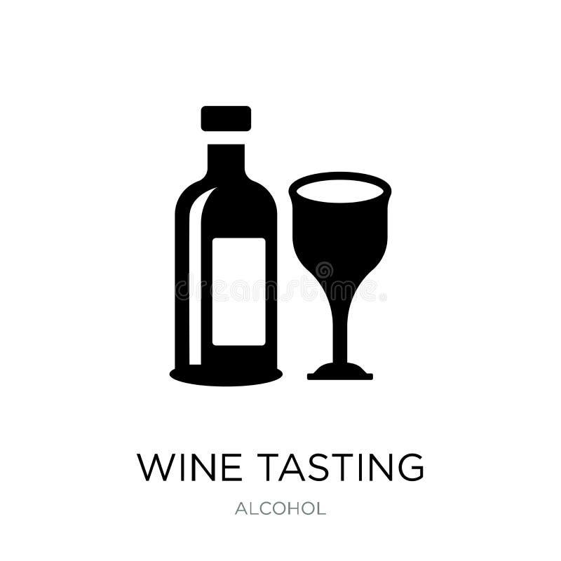 在时髦设计样式的品酒象 在白色背景隔绝的品酒象 品酒简单传染媒介的象和 皇族释放例证